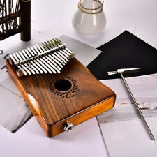 17Keys EQ kalimba Acacia Thumb Piano Link Speaker Electric Pickup with Bag Cable