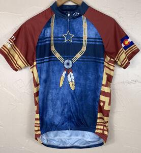 Primal Wear 2012 Bailey Hundo Cycling Jersey-Colorado-Mens Size Medium Full Zip