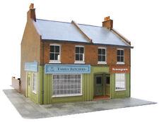Superquick Card Kit-OO/HO Gauge-Series C No7- C7 - Redbrick Terrace Corner Shops