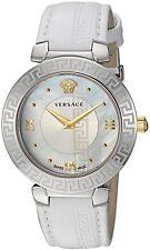 Versace Women DAPHNIS Swiss Quartz Stainless Steel & Leather,White V160100
