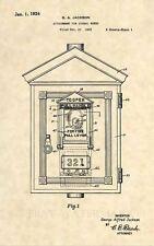 Official Fire Signal Box US Patent Art Print-  Antique Vintage Firefighter 449