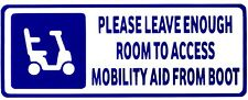 CUT VINYL DECAL STICKER PLEASE ALLOW ROOM MOBILITY DISABILITY AID ACCESS