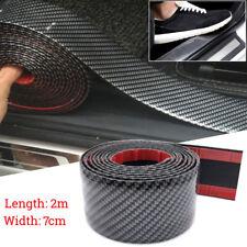 2M 70MM Carbon Fiber Car Moulding Trim Protector Universal Bumper Strip Look New