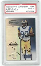 1999 Playoff Contenders Torry Holt RC Ticket Auto #155 PSA Mint 9 02329502