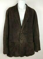 Vintage The Territory Ahead Brown Suede Long Sleeve Blazer Jacket Coat Mens Sz L