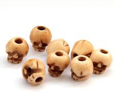 8Pcs Tibet Bone Pirate Skull Beads Finding--Jewelry Beads--9mm