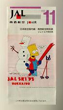 JAL Giappone Airlines Della compagnia aerea Timetable (tabella orari) 1992
