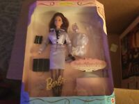 TOP ~ BARBIE DOLL COLLECTOR CURVY MRS WHICH TEXTURED SILVER CUT-OFF BLOUSE SHIRT