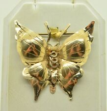 STERLING SILVER LARGE FANCY BUTTERFLY SHAPE W/ETCHED FEATURES DESIGN PIN#FME680