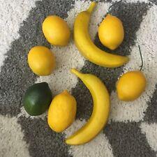 Set Lot Of 8 Bananas Lemon Lime Home Decor Play Props Fruit Citrus