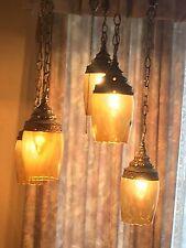 EF EF Industries Mid Century 5 Hanging PENDANT LAMP CHANDELIER SWAG Rococo