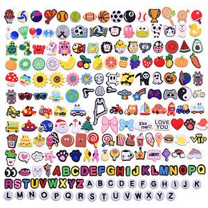 US Stock Varied 24-200pcs Shoe Charms Decoration Letters Balls Animals Flowers