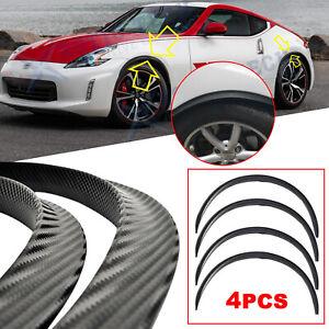 For Nissan 370Z Altima JDM Carbon Fiber Wheel Eyebrow Fender Flare Lip Arch Trim