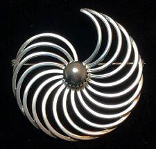 Vintage Sterling Silver B. Munksgaard Denmark Modernist Spiral Brooch Danish