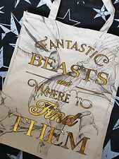 HARRY Potter fantastico Beasts e dove trovare loro ufficiale CANVAS BAG