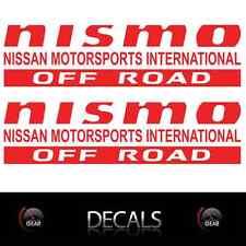 (2) Red NISMO OFF ROAD Decals Stickers Nissan Titan Frontier Pathfinder Custom