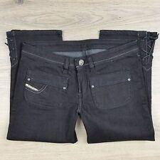 Diesel Kinkey Black Capri Stretch Women's Jeans As New Size 30 W31 L20.5 (J6)