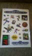 Sega Mega Drive Genesis Sticker Sheet Pal Jap Ntsc golden axe altered beast