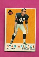 1959 TOPPS # 159 BEARS STAN WALLACE  ROOKIE NRMT+ CARD (INV# C0412)