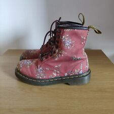 Dr Doc Martens 1460 Pascal Castel Victorian Red Flowers Floral Boots Size UK 5