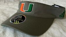 Adidas University of Miami Official Sideline Adjustable Visor - New!!