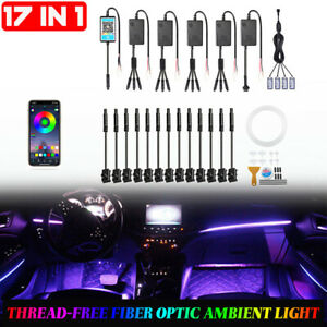 6m RGB LED Light Strip Car Interior Footwell Atmosphere Lamp For Mercedes Benz