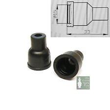 10x HT Silikon PVC ISOLATOREN FÜR VERTEILERKAPPE - 7mm 8mm gerade schwarz