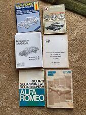 Alfa Romeo shop manuals