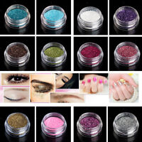 38 Colors Metallic Glitter Powder Dust For Makeup Nail Body Art Craft Decoration