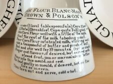More details for antique jelly mould brown & polson's recipe for blanc-mange british anchor  (a)