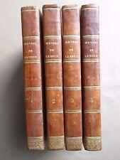 OEUVRES POETIQUES DE LEBRUN en 4 volumes in-8 complet, 1811.