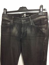 """NEW Seven For All Mankind 'Gwenevere' Distressed Black Skinny Jeans. Size 27""""."""