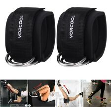 2pcs Sport Ankle Straps Padded D-ring Ankle Cuffs for Gym Workouts Leg Exercises