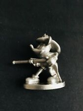 Solid Pewter Walt Disney MICKEY MOUSE FireFighter Silver Metal Figurine Statue