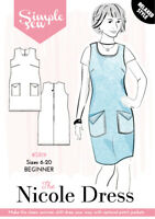 Womens The Simple Sew Nicole Dress UK SIZES 8-20 Ladies Sewing Pattern
