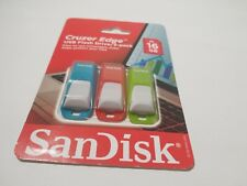 3pk SanDisk Cruzer Edge 16 GB USB Flash Drive Thumb Pen USB Memory Stick