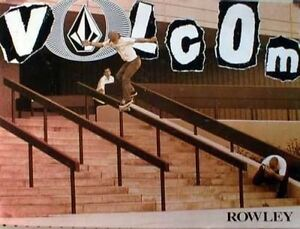 VOLCOM 2001 Geoff Rowley skateboard promotional poster New Old Stock Flawless
