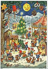 Weihnachtsrummelplatz Adventskalender Kurt Brandes Reprint Silberglimmer 10100