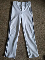 Baseball Pants, Youth Large L  White with Navy stripe ( Champro )