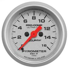 "Auto Meter Boost/Pyrometer Gauge 4344; Ultra-Lite Kit 1600°F 2-1/16"" Electrical"