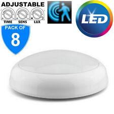 8x de marca 15w LED Mampara Lámpara de techo blanco BASE IP44 BAÑO Lámpara