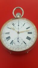 Large 64mm Antique Swiss Chronograph Pocket Watch