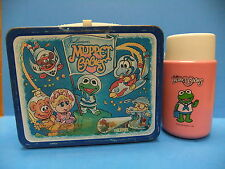 Muppet Babies 1985 Metal Lunchbox & Thermos Jim Henson Kermit The Frog Ms Piggy