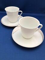 2 Sets of 2 EN VOGUE by HUTSCHENREUTHER Maxim's De Paris CUPS AND SAUCERS