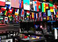 """100 pcs 5.5""""*8"""" Countries String Flag 25M World Banner home bar party decoration"""