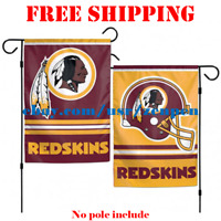 "Washington Redskins Logo Garden Outdoor Flag Double Sides 12x18"" NFL 2019 NEW"