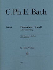 C Ph E Bach Flute Concerto in D minor Piano Sheet Music Henle Verlag Urtext Book