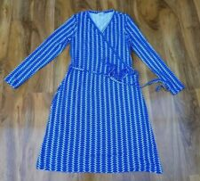 Boden Ladies GORGEOUS Wrap Stretch Dress Size 12L. Casual Jersey WH723 BRAND NEW