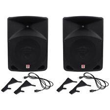"""Pair Rockville Power Gig RPG10 10"""" Powered Active 1200 Watt 2-Way DJ PA Speakers"""