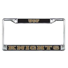 UCF CENTRAL FLORIDA Knights Chrome Metal License Plate / Tag Frame